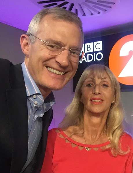 Jeremy Vine and Maryon Stewart